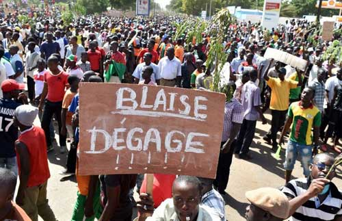 October 31, 2014 : Blaise Compaore left power