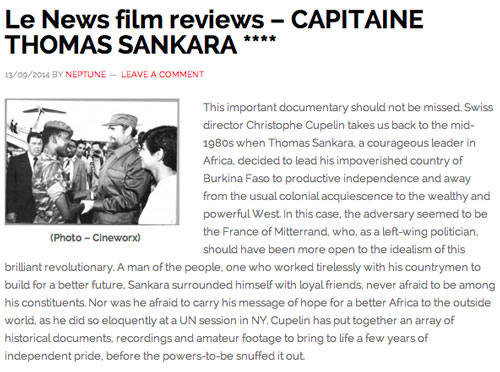 """This important documentary should not be missed"" Lenews.ch, Neptune, 13 September 2014"