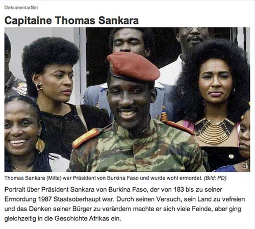 Capitaine Thomas Sankara luzernerzeitung.ch, 18.06.2015