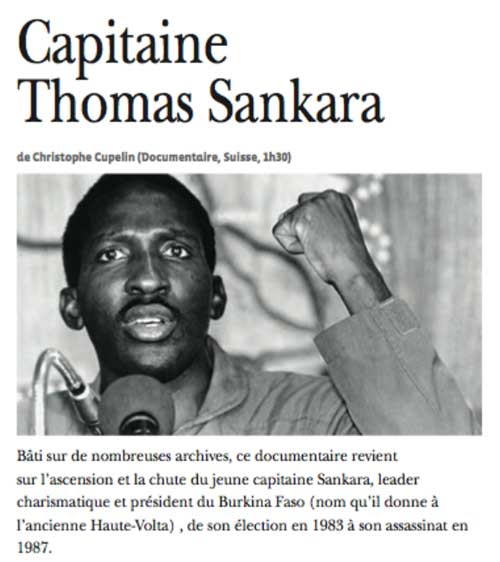 Capitaine Thomas Sankara Spectacles, novembre 2015