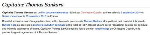 """Capitaine Thomas Sankara"" wikipedia, 20 avril 2016"